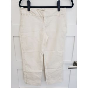 Banana Republic Womens Crop Pants in Cream Size 4